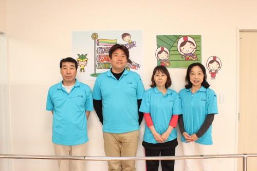 スタッフは4名。利用者さんの目標のサポートを親身になって行っている。